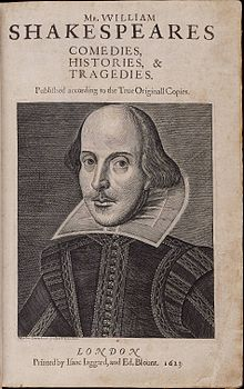 220px-Title_page_William_Shakespeare's_First_Folio_1623.jpg (23304 bytes)